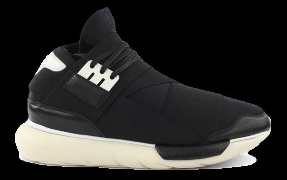 Adidas Y-3 Qasa High Черно-Белые
