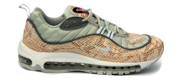 Nike Air Max 98 x Supreme коричневые