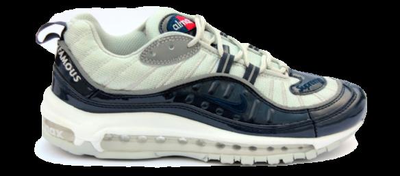 Nike Air Max 98 x Supreme Бело-cиние