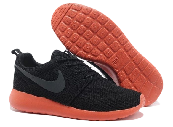 Nike Roshe Run Мужские черные с красным