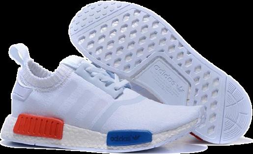 Adidas NMD R1 Primeknit Vintage Белые