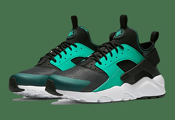 Nike Air Huarache Ultra черно-бирюзовые