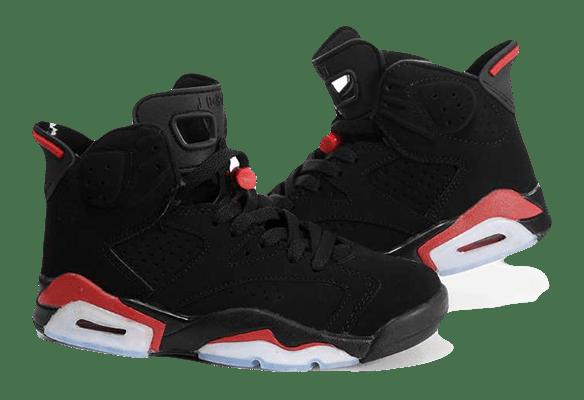 Nike Air Jordan 6 черные с красным