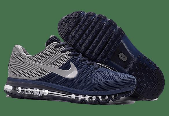 Nike Air Max 2017 темно-синие с серым