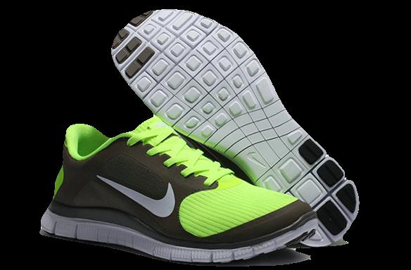 Nike Free Run 4.0 салатово-коричневые