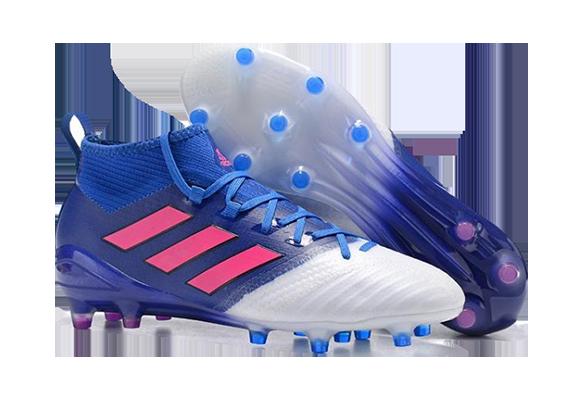 Adidas Ace17.1 Priemknit FG Синие с Белым