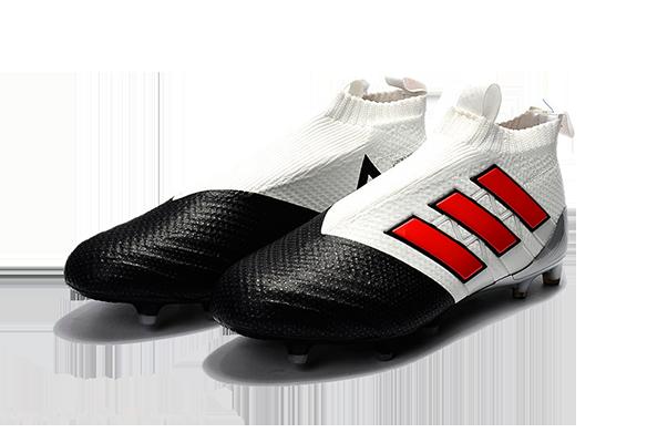 Adidas Ace 17+ Purecontrol FG Белые с Черным