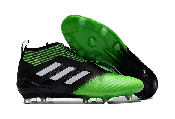 Adidas Ace 17+ Purecontrol FG Черные с Зеленым