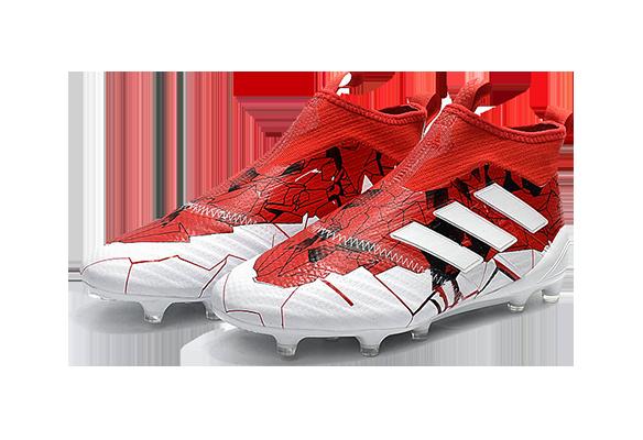 Adidas Ace 17+ Purecontrol FG Красные с Белым