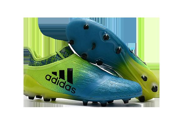 Adidas X 16+ Purechaos FG/AG Голубые с Желтым