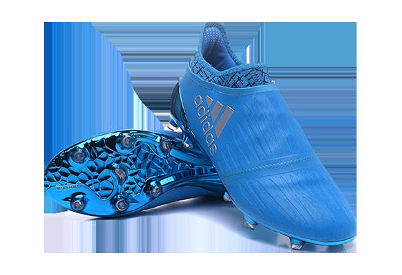 Adidas X 16+ Purechaos FG/AG Голубые