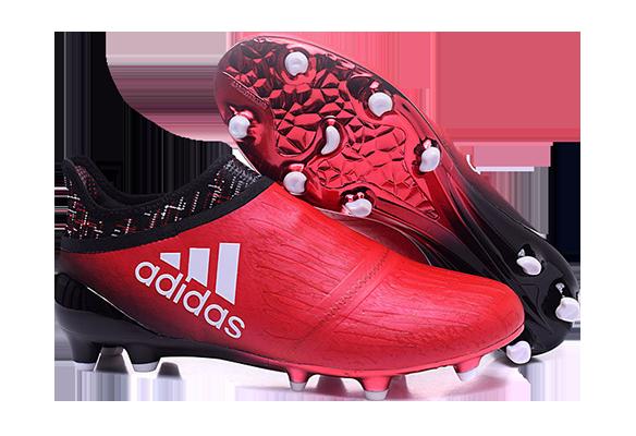 Adidas X 16+ Purechaos FG/AG Красно-Черные
