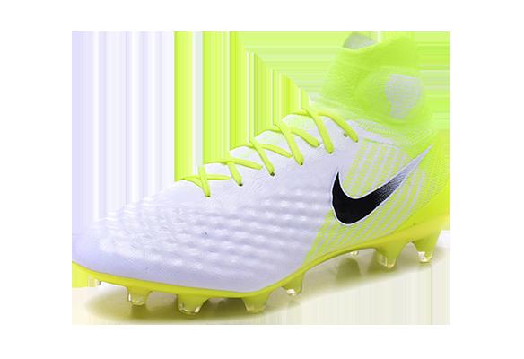 Nike Magista Obra II FG Белые с Желтым