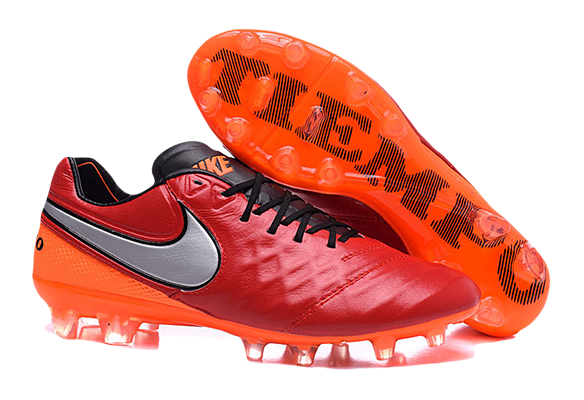 Nike Tiempo Legend V FG Красные с Оранжевым