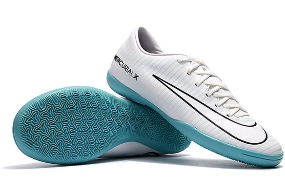 Nike Mercurical Victory VI IC Белые с Голубым