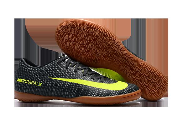 Nike Mercurical Victory VI IC Черные с Желтым