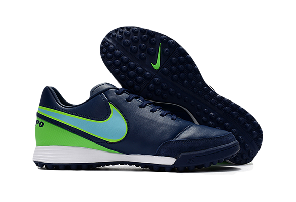Nike Tiempo Mystic V TF Синие с Зеленым