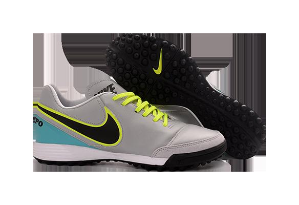 Nike Tiempo Mystic V TF Серые с Бирюзовым