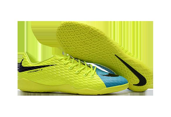 Nike Hypervenom IC Желтые с Голубым
