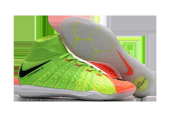 Nike HypervenomX Proximo II DF IC Зеленые с Оранжевым