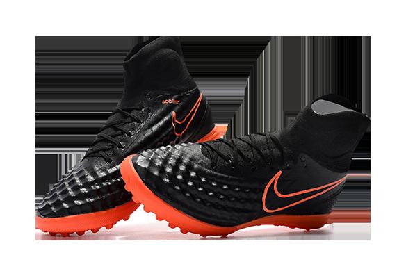 Nike Magista Obra II TF Черные с Оранжевым