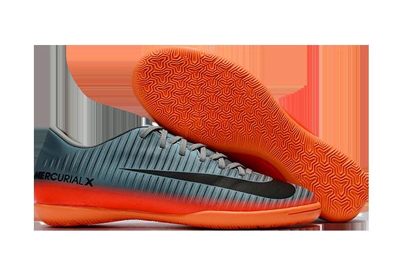 Nike Mercurial Victory VI IC Серые с Оранжевым