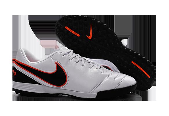 Nike Tiempo Legend TF Белые с Черным