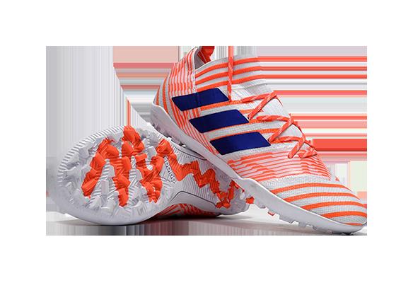 Adidas Nemeziz 17.1 TF Белые с Оранжевым