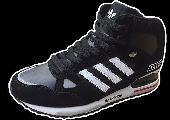 Adidas ZX 750 С натуральным мехом черные