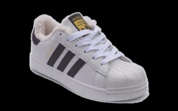 Adidas Superstar Зимние белые