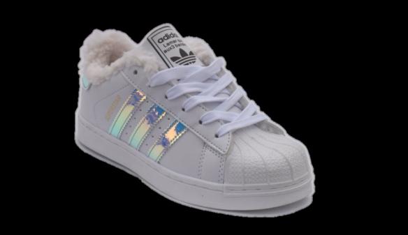 Adidas Superstar Зимние женские белые