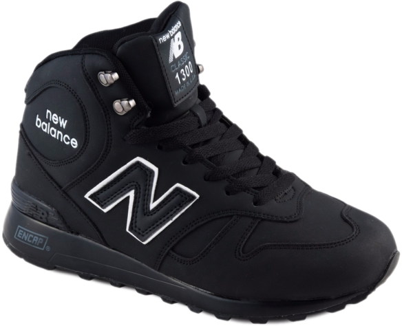 New Balance 1300 С натуральным мехом черные
