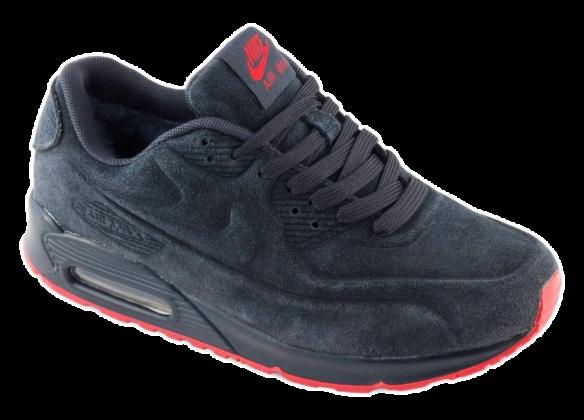 Nike Air Max 90 VT С натуральным мехом темно-серые