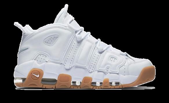 Nike Air More Uptempo белые с бежевым