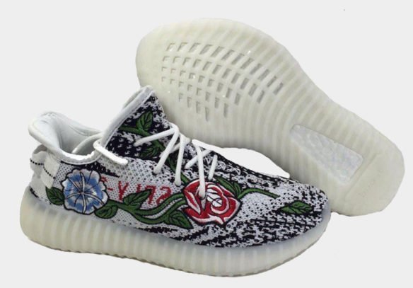 Фото Adidas Yeezy Boost 350 V2 by Kanye West (Zebra Floral) - 1