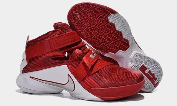 Фото Nike Lebron 9 Ohio State красные - 2