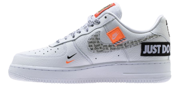 Nike Air Force 1 '07 Premium «Just Do It» Белые