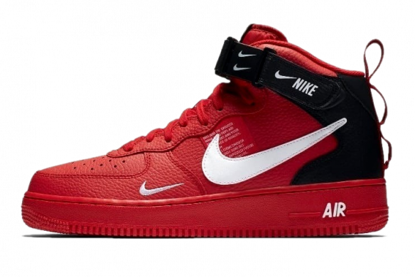 Осень-зима Nike Air Force 1 '07 Mid Utility RedBlack