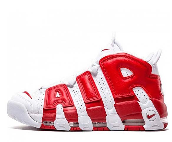 Nike Air More Uptempo red-white