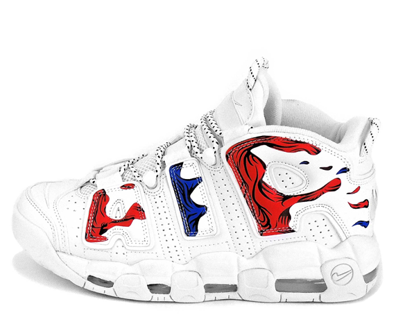 Nike Air More Uptempo white-red-blue