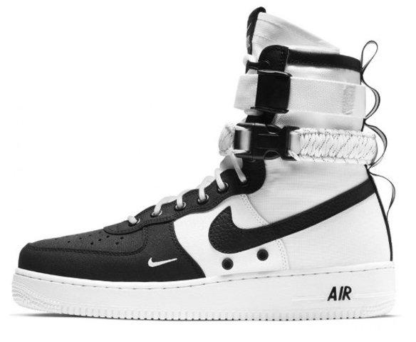 Nike sf air force 1 черно-белые