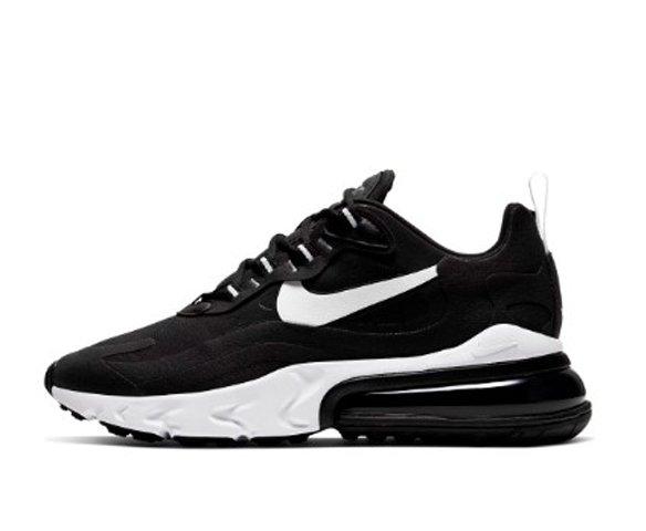 Nike Air Max 270 React черно-белые