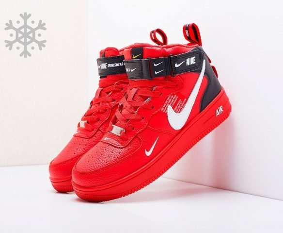 Nike Air Force 1 07 Mid LV8 red
