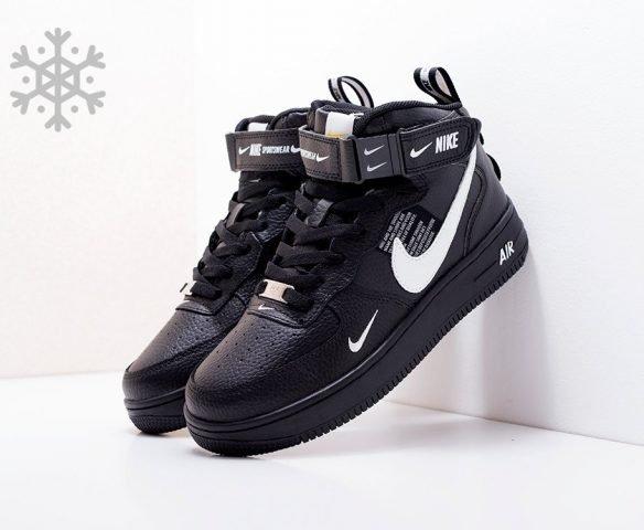 Nike Air Force 1 07 Mid LV8 черные