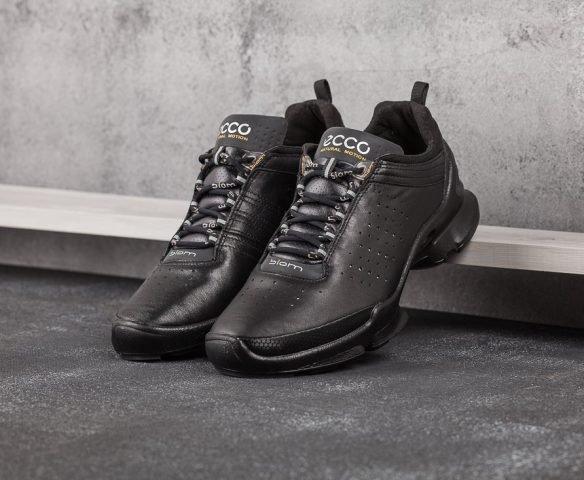Ecco Biom кожаные чёрные
