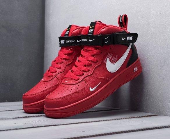 Nike Air Force 1 07 Mid LV8 красные