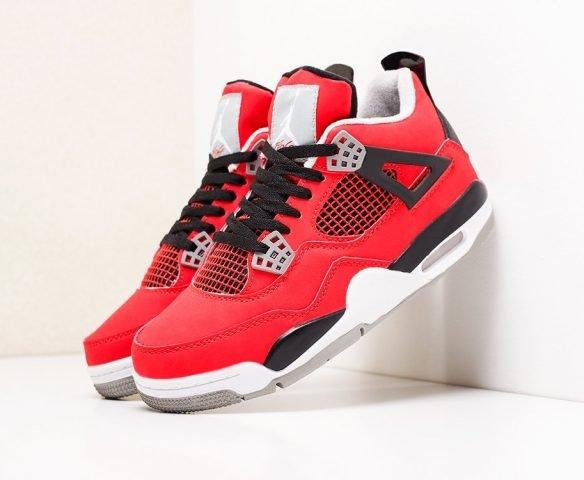 Nike Air Jordan 4 Retro красно-белые