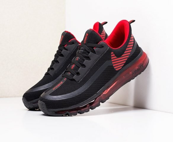 Nike Air Max 2019 черные с красным