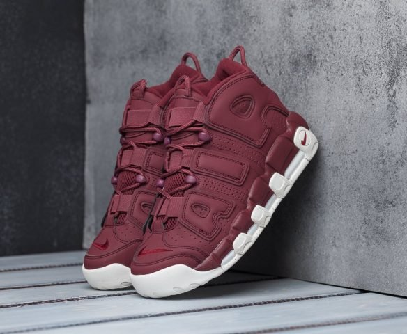 Nike Air More Uptempo бордовые