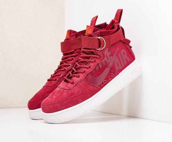 Nike SF Air Force 1 Mid красные